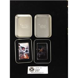2 Brand New Star Lighters. Zippo Style in Tin Cases