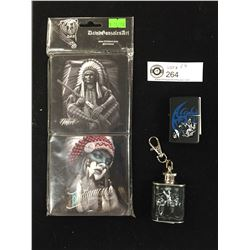 4 Coasters in the Package by David Gonzales. Mickey Key Chain New Lighter Case