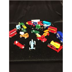 21 miniature Matchbox Cars in Very Good Shape from the Early 1990's