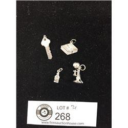 4 Sterling Silver Bracelet Charms
