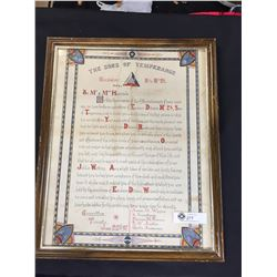 June 22 1897 Proclamation The Sons of Temperance 17.5 X 21.5