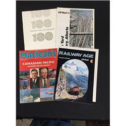 4 Pieces of C.P. Rail Memorabilia