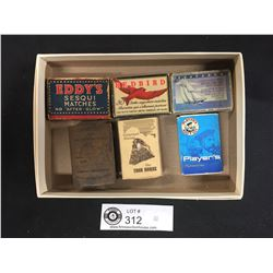 Match Box Collection with War and Relief Fund 1914-198 Metal Cover