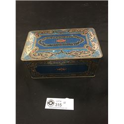 Very Nice 1920's Tin Velvetina Buty Chest Roodrich Perfumes
