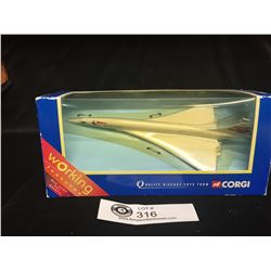 New in The Package Corgi Concorde-New Livery Moving Nose Cone.  Never Out of the Package