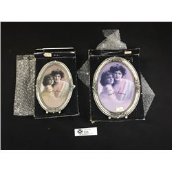 2 Very Nice Pewter Frames 4x6 and 5x7