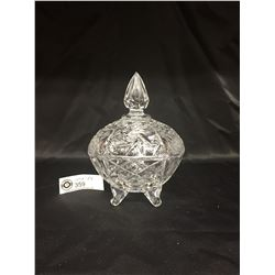 Nice Lidded Lead Crystal Candy Dish. 6x6x7 No Chips or Cracks