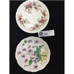 "Royal Albert Tea Cup Saucers "" Violet"" No. 2 of 12. and "" Lavender Rose"""