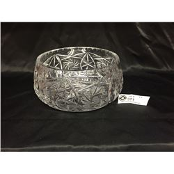 """A Nice Large Lead Crystal Bowl 9"""" Diameter 4"""" Tall. No Chips or Cracks"""