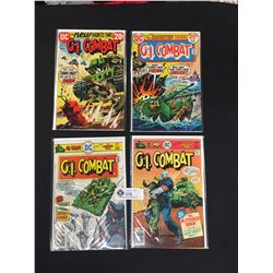 4 G.I. Combat DC Comics. #156,#164,#191, #194. On White Boards and In Bags