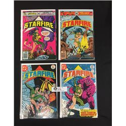 4 Starfire DC Comics. Volume 1,2,4,5. On White Boards and In Bags