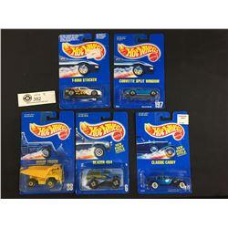 5 1990 Hotwheels. Still in the Package