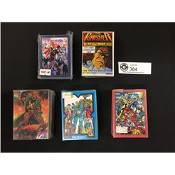 5 Packs of Trading Cards. The Punisher, Youngblood, New Mutants , Thor. Marvel Comics