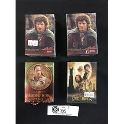4 Bundles of Trading Cards. 3 Lord of the Rings, 1 The Scorption King. Premium Trading Cards