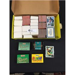 Sports Card Lot with Unopened Packs of Baseball and Football
