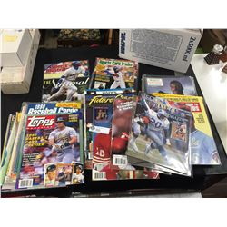 Over 40 Sports Magazines Plus Trading Cards.
