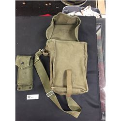 2 WWII World War 2 US Army Packs. One Pocket Ammuntion Holder with Gun Clip. No Bullets, Plus a Bigg