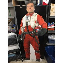 """Star Wars The Force Awakens 5'11"""" Cardboard Movie Cutout. For Advertising Oscar Isaac. Lifesize Post"""