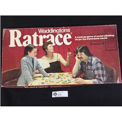 Waddingtons Ratrace Board Game. 1970