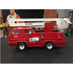 Vintage Tonka Red and White Pressed Metal Snorkel Fire Truck Snorkel Arm Fully Extends No Ladders Me