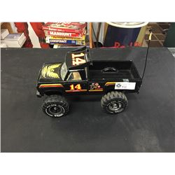 Vintage Mighty Tonka 4x4 Rally Pick up Truck with Black Bird #14. Pressed Steel