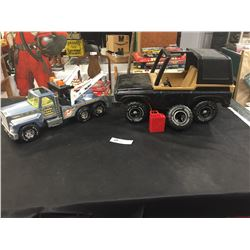 Vintage 1970's Tonka Blazer with Spare Tire and Gas Can. Plus a Nylint Tow Truck