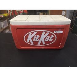 """Vintage Colman Cooler with Kit Kat Embossed on the Front. 24"""" x 13"""" x 12"""""""