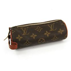 Louis Vuitton Monogram Canvas Leather Trousse Ronde Pouch Bag