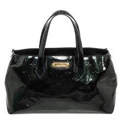 Louis Vuitton Dark Green Monogram Vernis Leather Wilshire PM Bag