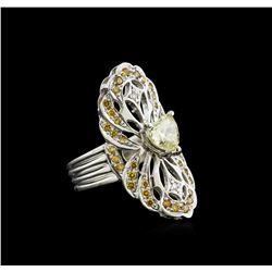 GIA Cert 1.48 ctw Diamond Ring - 14KT White Gold