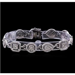 4.89 ctw Diamond Tennis Bracelet - 14KT White Gold