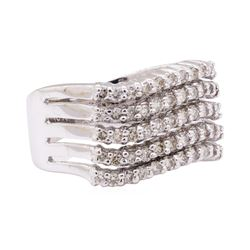 0.70 ctw Diamond Ring - 18KT White Gold