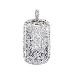5.15 ctw Diamond Pendant - 14KT White Gold