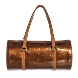 Louis Vuitton Bronze Vernis Leather Bedford Barrel Bag