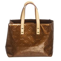 Louis Vuitton Bronze Vernis Leather Monogram Reade PM Bag