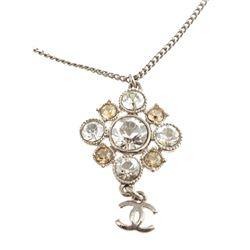 Chanel Strass CC Pendant Necklace