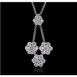 14KT White Gold 0.69 ctw Diamond Pendant With Chain