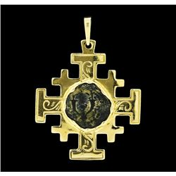 Coin Pendant - 14KT Yellow Gold