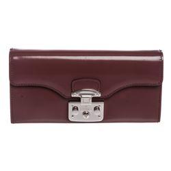 Gucci Purple Leather Padlock Continental WOC Bag