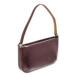Louis Vuitton Burgundy Monogram Mat Fowler Pochette Bag