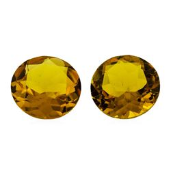 10.16 ctw.Natural Round Cut Citrine Quartz Parcel of Two