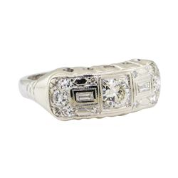 0.67 ctw Diamond Ring - Platinum