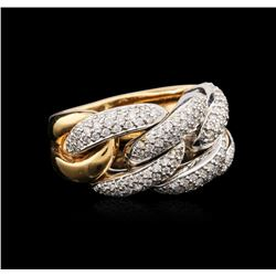 18KT Two-Tone Gold 1.25 ctw Diamond Ring