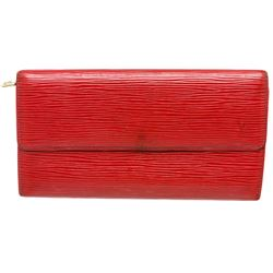 Louis Vuitton Red Epi Leather Sarah Long Wallet