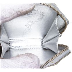 Louis Vuitton Silver Vernis Monogram Flocon Snowflake Coin Purse Wallet