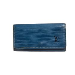 Louis Vuitton Blue Epi Leather 4 Key Holder