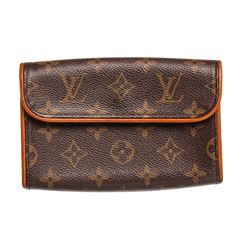 Louis Vuitton Monogram Canvas Leather Florentine Pochette Bag