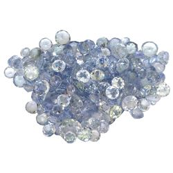 14.16 ctw Round Mixed Tanzanite Parcel