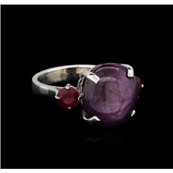 15.25 ctw Ruby Ring - 14KT White Gold