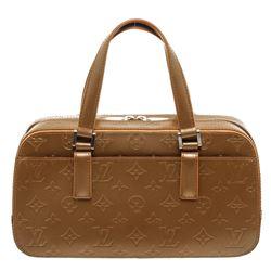 Louis Vuitton Gold Mat Leather Shelton Bag